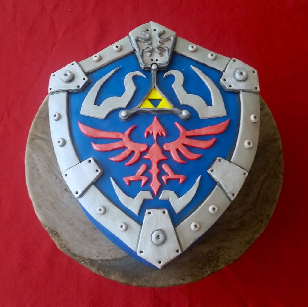 Hylian Shield birthday cake