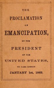 cover of the Proclamation of Emancipation